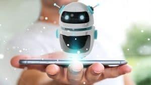 רובוט יוצא מתוך מסך טלפון
